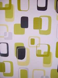 Hochwertig Vlies Tapete Grün Retro Tapeten Geometrisch
