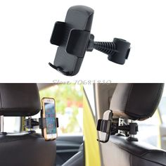 """360 Rotatable Car Back Seat Headrest Mount Holder Stand For iphone Samsung LG Xiaomi Huawei 3.5""""-6"""" Smart Phone #K400Y# DropShip"""