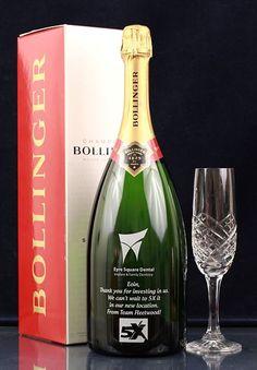 Bollinger Champagne Magnum Bottle Engraved
