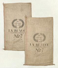 French grain sack reproduction: 18x30-inch bags for $9 each!...how awesome are these?! {framed as wall art, made into pillows or chair cushions, covering a bulletin board...