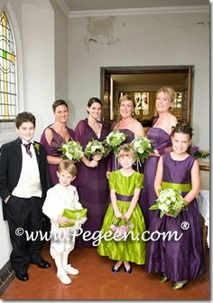 Wedding in Ireland.  Flower girl dresses and ring bearer suit by pegeen.com