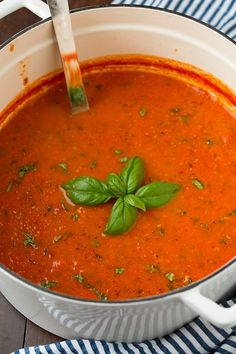 Roasted Tomato Basil Soup | Cooking Classy #SuperSoups!