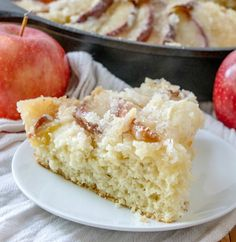 This dutch apple cake recipe has been in my family for generations. It is a simple cake topped with apples and plenty of golden topping. Healthy Apple Cake, Vegan Apple Cake, Moist Apple Cake, Easy Apple Cake, Apple Cake Recipes, Delicious Cake Recipes, Dessert For Dinner, Simple Dessert, Easy Desserts
