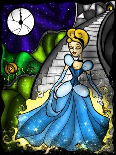 Cinderella Stained Glass, by Mandie Michel