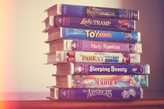 VHS tapes...definitely don't miss rewinding!