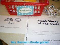 Mrs. Bremer's Kindergarten: Gumball Words & Other Literacy Work Stations