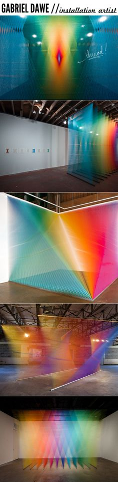 Installations made from THREAD by Gabriel Dawe