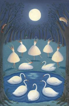 Swan Lake, illustration by Alison Jay