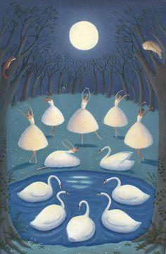 Swan Lake, illustration by Alison Jay