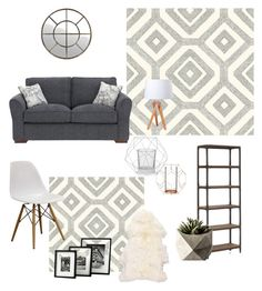 """""""Lounge"""" by jazzywiles on Polyvore featuring interior, interiors, interior design, home, home decor, interior decorating, Ballard Designs, Lightyears, Zuo and Bloomingville"""