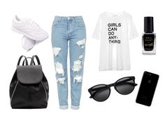 """""""Untitled #2"""" by timeea-corjuc on Polyvore featuring Topshop, Zadig & Voltaire, Reebok, Witchery and Barry M"""