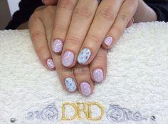 Gel II Cath Kidston nail art (painted by hand) xDBDx