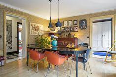 Casinha colorida: Dois apartamentos escandinavos inspirados no décor dos anos 60