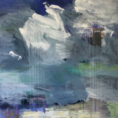 """ Summer Day "" Acrylic on canvas, 100 x 100 cm, Bjørnar Aaslund, 2015"