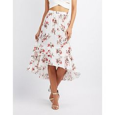 Multi Floral Tiered Maxi Skirt - Size L