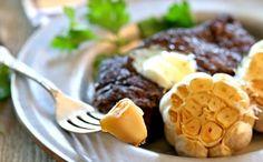 Homemade Roasted Garlic Heads: Savory Steak Side Dish