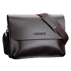 Zeagoo Men s Genuine Leather Messenger Shoulder Briefcase Laptop Bag ae40907d36