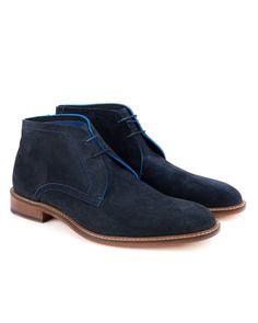 Men's Casual ankle boot - Dark Blue | Shoes | Ted Baker www.MadamPaloozaEmporium.com www.facebook.com/MadamPalooza