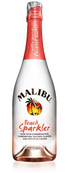 Malibu Peach Sparkler - Sparkling Rum