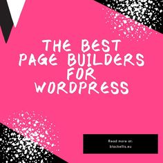 @blackellis0792 posted to Instagram: Page builders will allow you to achieve a professional design, edit your content, customize the appearance, and everything your site needs. So check out the best page builders for WordPress at blackellis.eu #wordpress #wordpressblogger #wordpressblog #websitebuilder #uidesigner #webdesigner #userinterface #website
