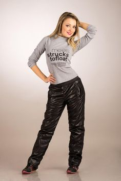 Shiny poly pants 2