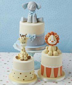 Safari baby shower cake, lion baby shower, elephant and giraffe bab Safari Baby Shower Cake, Lion Baby Shower, Gateau Baby Shower, Baby Shower Cupcakes, Shower Cakes, Lion Cakes, Giraffe Cakes, Safari Cakes, Baby Elephant Cake