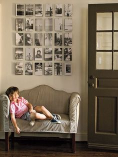 love this black and white photo grid - sublime-decor.com