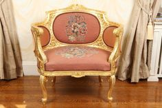 C1900 Carved and Gilt Bergere Chair