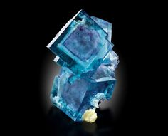 Blue Cubes with phantoms of Fluorite