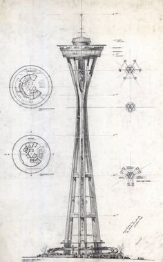 Designspiration — preliminary+design+of+the+Space+Needle+for+the+1962+Seattle+World's+Fair+Exhibition+Original+drawing+by+Victor+Steinbrueck+24+Aug+1960.jpg (image)