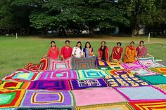 Contribution to world's largest crochet blanket 2016 micq