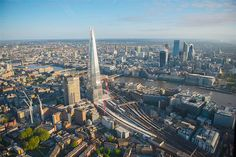 London Bridge Station and The Shard. - Image: Beautiful aerial views over London (© BARCROFT MEDIA/Jason Hawkes)