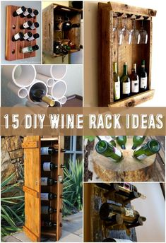 Diy Pallet Wine Rack With Glass Holder. 40 Pieces Of DIY Shabby Chic Decor For Your Home. Repurpose Old Pallets Into Wine Bottle Wine Glass Rack . Do It Yourself Furniture, Diy Furniture, Woodworking Plans, Woodworking Projects, Pallet Wine, Diy Pallet, Pallet Bar, Wine Rack Design, Bar Design