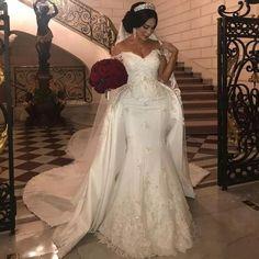 2019 Newest Strapless Sleeveless Wedding Dresses Zipper Back Stain Chapel Train Lace Bridal Wedding Gowns Bride Dresses Vestido De Novia