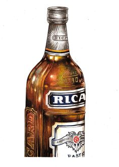 """Ricard"" (2014)  watercolour on paper (15x21cm) by Tiina Lilja"