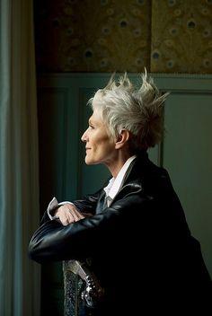 Gotta love grey hair with attitude!