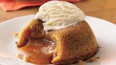 butterscotch mini dessert with the molten center....