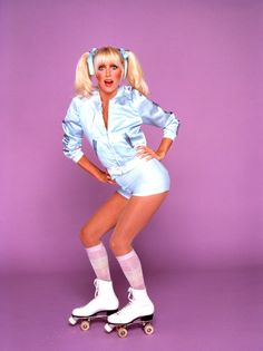 Chrissy Snow (Suzanne Somers) on roller skates