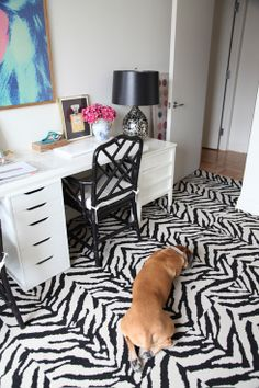 Made by Girl office with FLOR tiles