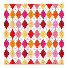 Sherbert Argyle Shower Curtain
