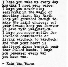 -Erin Van Vuren ~ for my daughter