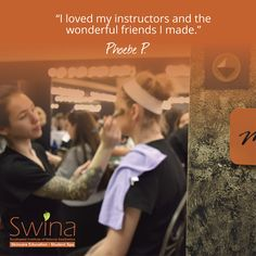 At Swina, you get more than a quality education, you also build lifelong relationships. Discover a career in #aesthetics. ~ #MySwina