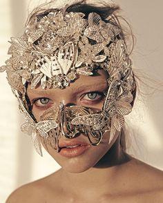 Mask created by Yana Markova / Маска Яна Маркова Headdress, Headpiece, Markova, Halloween Face Makeup, Instagram, Masks, Photography, Art, World