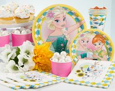 PartyPail Frozen Fever Birthday Party Supplies and Ideas Frozen Fever Party, Frozen Birthday Party, Birthday Parties, Ana Frozen, Disney Frozen, Party Planning, Party Supplies, Children, Frozen Birthday