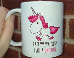 Unicorn teacup and rainbow saucer Unicorn Lady  Mug por vitaminaeu