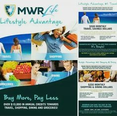 Buy more pay less! Would You Spend $50 a month to receive $850 in shopping/traveling/dining dollars? As a MWR lifestyle advantage customer that is exactly what we do for you give you shopping dollars every month and when you don't use them they roll over. Watch this 3 minute video www.mwrlife.com/virtuousmom/lifeadvantage to learn more then Text me @ (229) 630-7987 to take advantage of this amazing service. #MWRLIFE