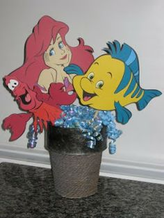 little mermaid cricut centerpieces