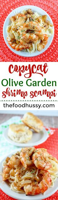One thing a lot of folks love at Olive Garden is their Shrimp Scampi. It's such a classic dish and it's buttery and garlicky! It's such a delicious and light dinner - you'll love it! Seafood Lasagna Recipes, Restaurant Recipes, Shrimp Recipes, Copycat Recipes, Shrimp Meals, Pasta Recipes, Shrimp Scampi Olive Garden, Shrimp Scampi Without Wine, Shrimp Dishes