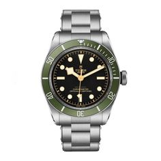 Tudor adds hit of Harrods green to its Black Bay timepiece.