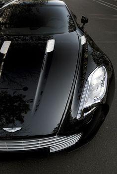 a sleek black car